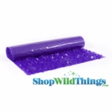 Floral Fabric Sheeting - Purple - 3 ft x 30 ft Roll