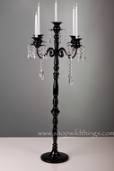 """Frances""  Large Black Tabletop Candelier Candelabra- 32""  Tall!"