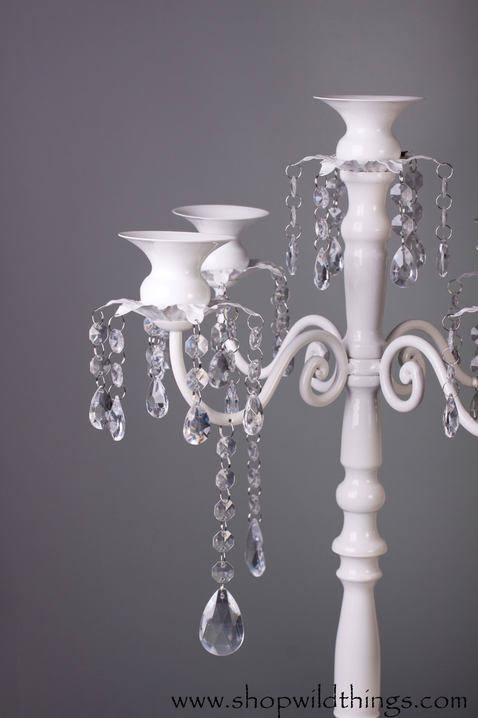 Large White Candelabra White Candelier For The Tabletop
