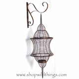 "CLEARANCE French Country Wall Mounted Wire Lantern - 3 Feet Tall! - ""Frederique"""