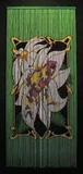 Frog Bamboo Painted Beaded Curtain