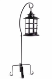 CLEARANCE Garden Candle Lantern With Stand - Iron & Glass - Large 35""