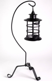 CLEARANCE Garden Candle Lantern With Stand - Iron & Glass - Small 25""