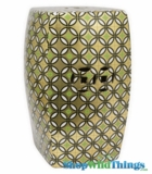 Garden Stool Gold Geometric