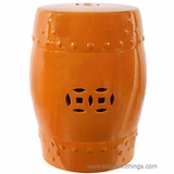 "Garden Stool ""Hampton"" Orange"
