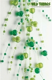 Garland, 5 Feet Long, Green Pearls, Set of 2