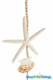 "Garland, 74"" White Finger Starfish"