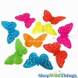 Garland -  Butterflies - Rainbow Glitter - 6.5 Feet Long
