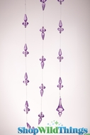 "Garland ""Vonda"", Purple 60"" - Strand of Chunky Acrylic Gems"