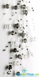 Garlands of Glass, 5 Feet Long, Pack of 2, Gray & Clear White