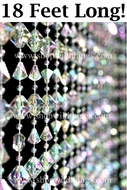 Gemstone Crystal Beaded Curtain 3' Wide  x 18 Feet Long