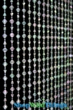 Gemstone Beaded Curtain - Crystal Iridescent - 3 ft x 6 ft