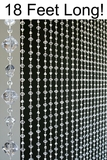 Gemstone Beaded Curtain - Crystal Non-Iridescent - 3 ft x 18 ft