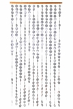 Genuine Capiz Shell Curtain White - Adjustable Length!