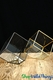 "Geometric Cube Terrarium & Candle Holder- Gold - 5"" Tall"