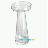 Glass Candle Holder (Or Riser!)- Fillable Vase Base - 5  x 9
