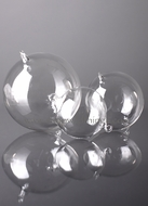 Glass Decorative Hanging Balls - 80mm - Set of 6