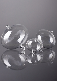 Glass Decorative Hanging OVALS - 80mm - Set of 6