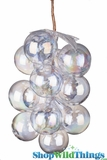 Glass Grape Cluster Iridescent - 7""