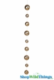 Glass Garland Streamer Iridescent Ball -  Gold -  30""