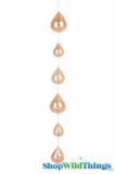 Glass Garland Streamer Iridescent Teardrop -  Champagne -  22""