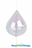 Glass Garland Streamer Iridescent Teardrop -  Clear -  22""