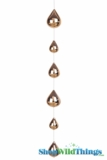 Glass Garland Streamer Iridescent Teardrop -  Gold -  24""