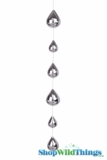 Glass Garland Streamer Iridescent Teardrop -  Silver -  23""