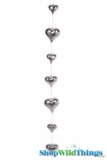 Glass Garland Streamer Shiny Heart -  Silver 22""