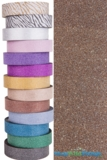 "Glitter Tape Dark Brown 1"" wide x 20 yds"