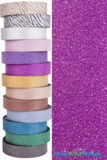 "Glitter Tape Fuchsia 1"" wide x 20 yds"