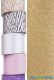 "Glitter Tape Gold 4"" wide x 5 yds"