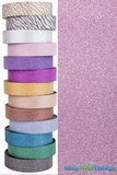 "Glitter Tape Light Pink 1"" wide x 20 yds"