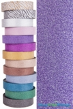 "Glitter Tape Purple 1"" wide x 20 yds"