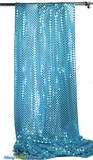 """Glitzy Square"" Spangles Turquoise Blue - Fabric 44"" x  5 yards"