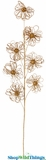 Gold Multi-Loop Floral Spray 30""