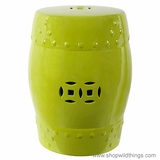 """Hampton"" Lime Green Garden Stool - 14"" x 18"""