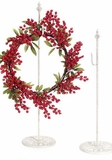 Hanger for Wreaths & Floral D?cor -  Antique White Metal 30""