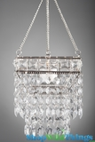 """Hanging Beaded Candle Holder """"Noor"""" - 5"""" Square"""