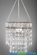 "Hanging Beaded Candle Holder ""Noor"" - 5"" Square"