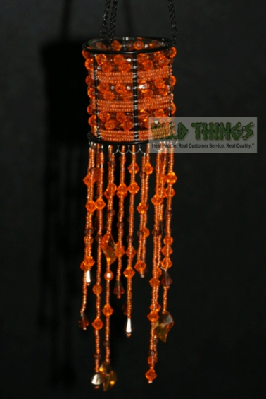 CLEARANCE - Hanging Candle Holder  The Empress , Orange
