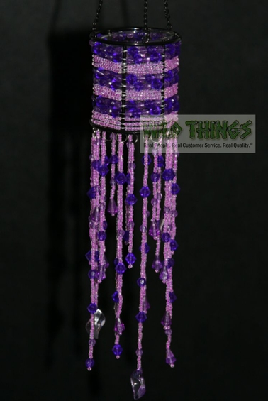 "CLEARANCE - Hanging Candle Holder  ""The Empress"" Purple"
