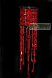 Hanging Candle Holder  The Empress , Red/Burgundy