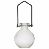 """Hanging Flower or Rooting Bottle, Recycled Glass - 3.4oz Clear """"Audrey - Small"""""""
