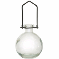 "Hanging Flower or Rooting Bottle, Recycled Glass - 8.5oz Clear ""Audrey - Large"""