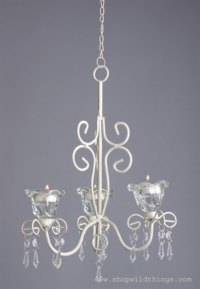 "Hanging French Chic Candle Chandelier ""Lulu"""