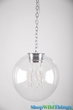 "Hanging Glass Ball LED Lamp - ""The Hoov"""