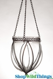 "Hanging Glass Vase With Metal ""Mary"" - Medium"
