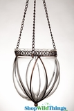 "Hanging Glass Vase With Metal ""Nellie"" - Large"