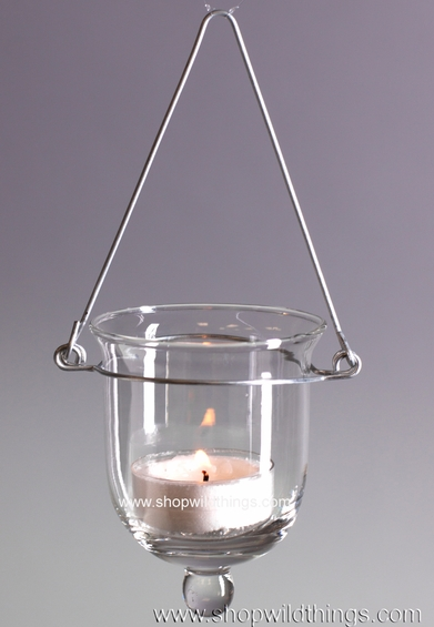 "Hanging Glass Votive or Tealight Holder ""Marleigh"""